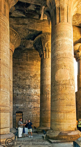 Hypostyle Hall 1, Temple of Isis near Aswan, Egypt
