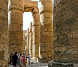 In the Hypostyle Hall 1, Karnak, Luxor, Egypt