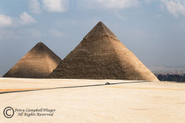 Pyramids of Khufu and Khafre 1, Giza, Egypt