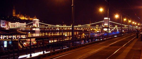 Elizabeth Bridge by night, Budapest