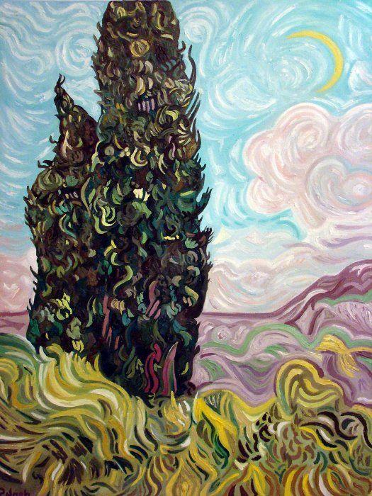 Cypresses - Van Gogh