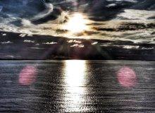 Sunset at Alesund harbour