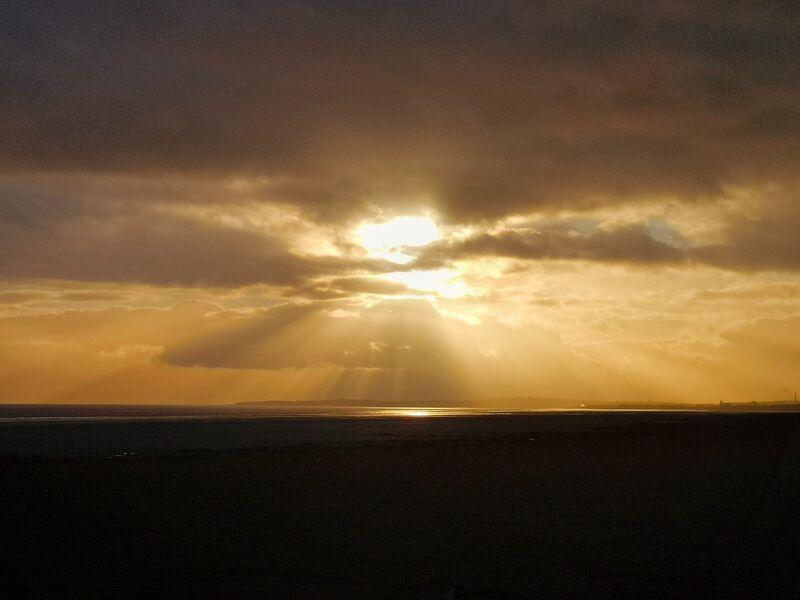 Welsh Coastal path sunset
