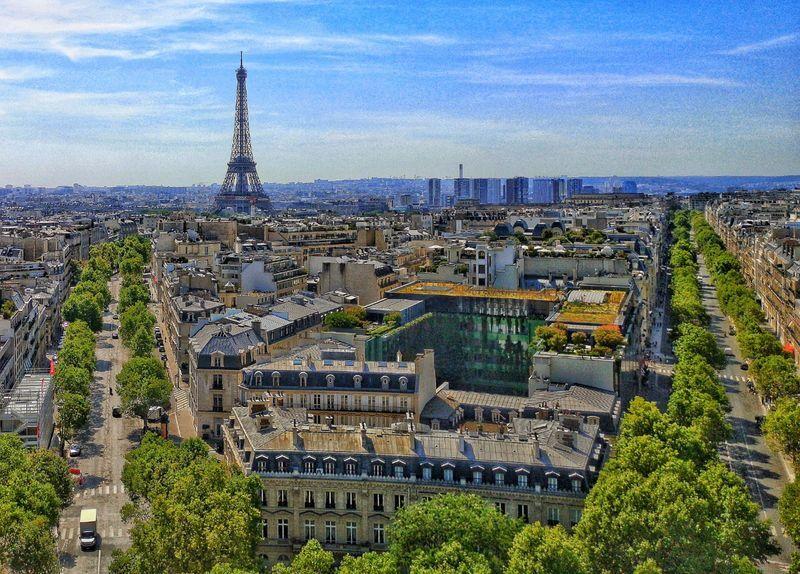 Paris from the Arc de Triomph
