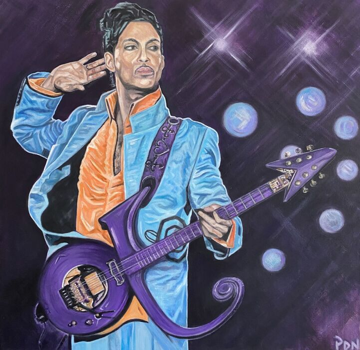 Prince at the 2007 Superbowl