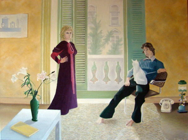 Mr & Mrs Clark and Percy - David Hockney
