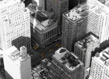 New York cabs from above