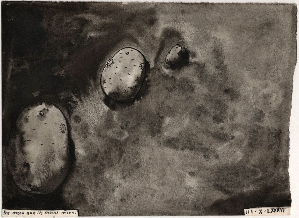 Number 12 - The Moon and Its Moon's Moon 1986. £250