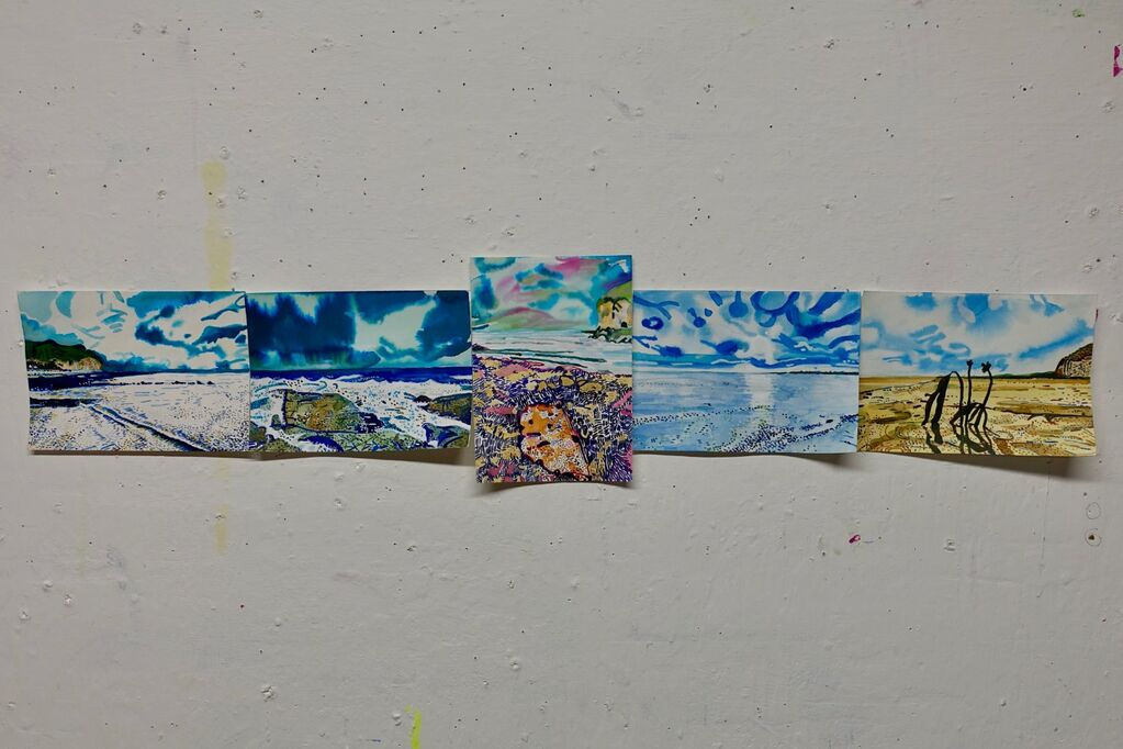 Sea Pictures Series - Studio wall January 2021
