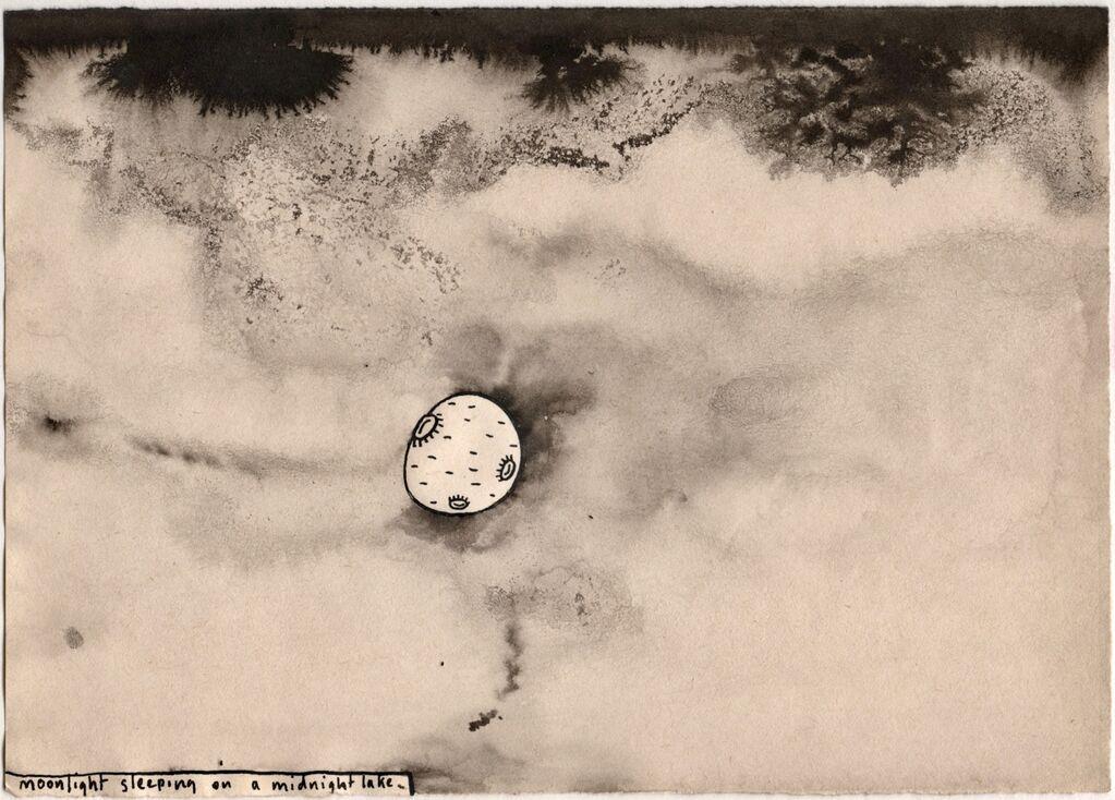 Number 4 - Moonlight Sleeping on a Midnight Lake 1986. £250