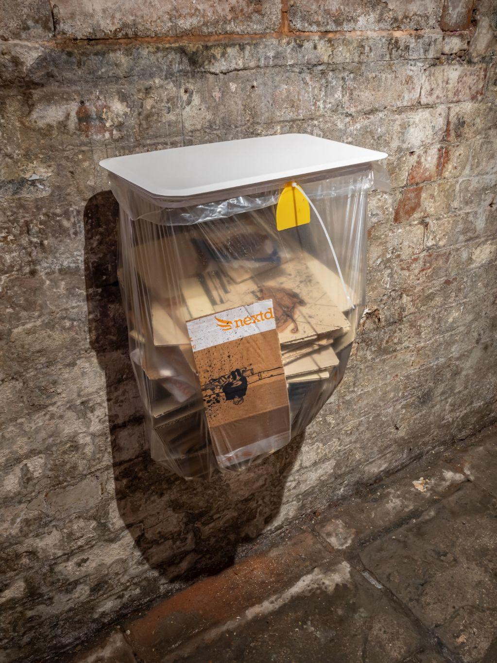 A Bin With Drawings of Rough Sleepers 2019