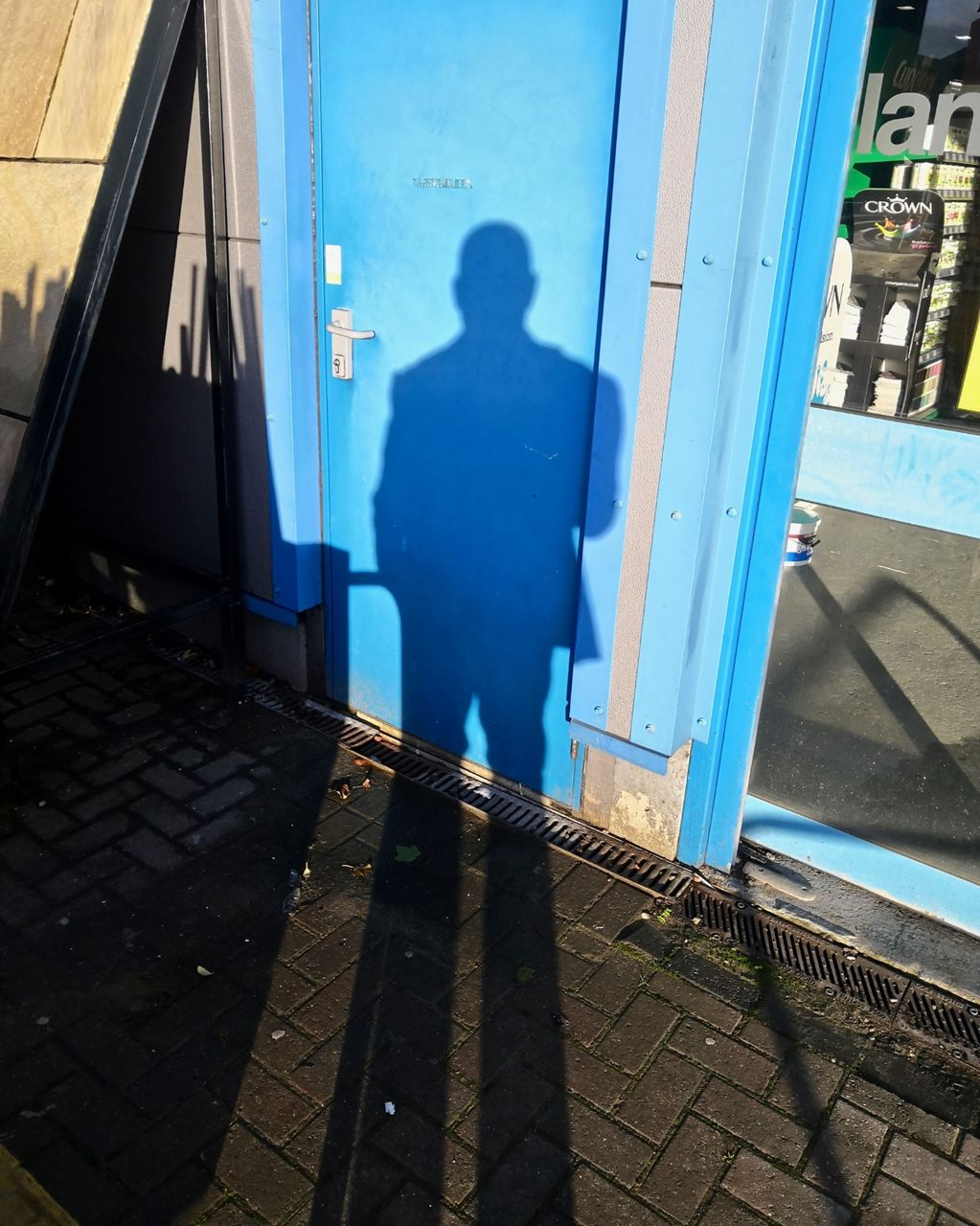 Self Portrait on Blue Door II 2019