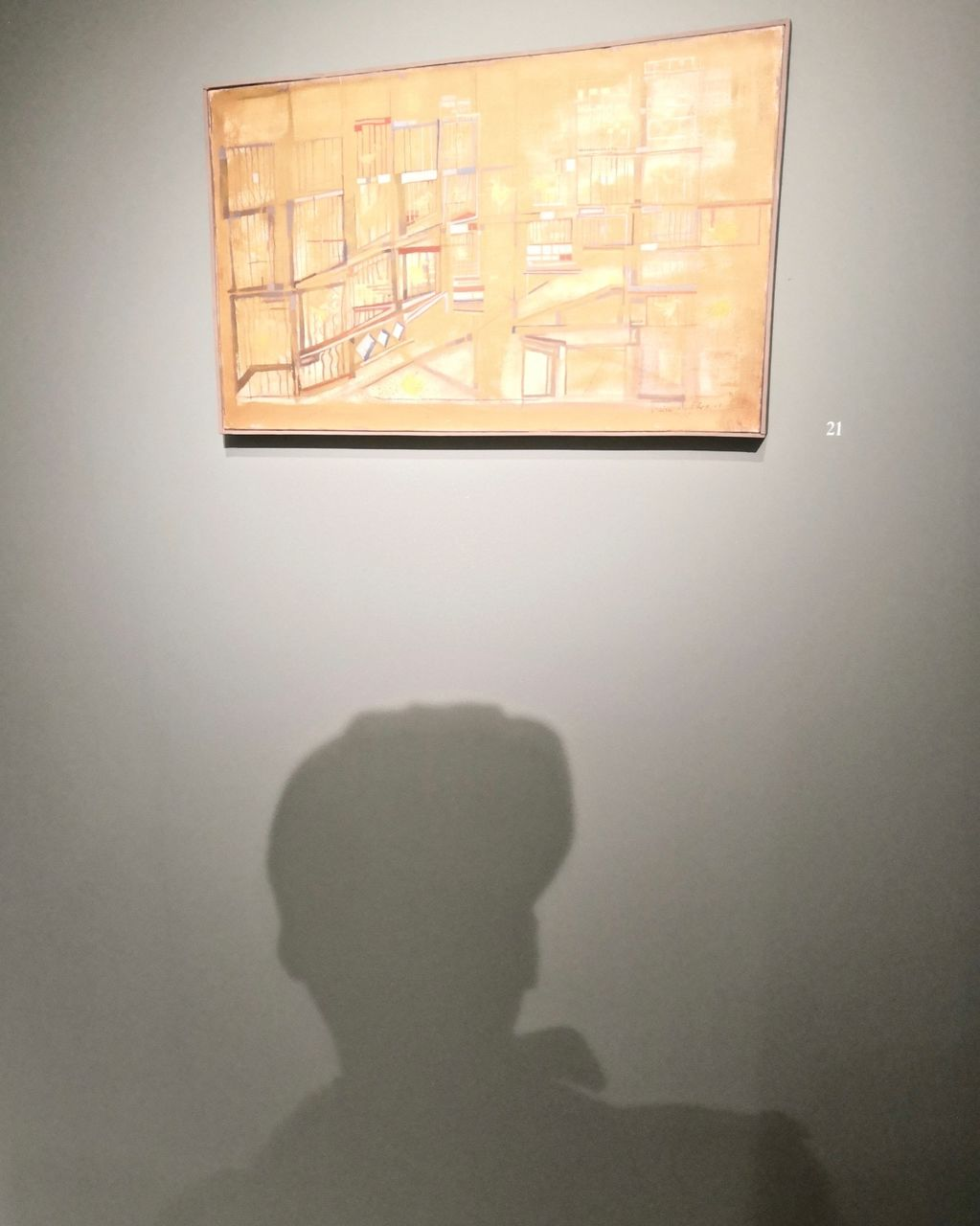 Self Portrait under Maria Helena Vieira da Silva, Waddington Custot Gallery, London 2020