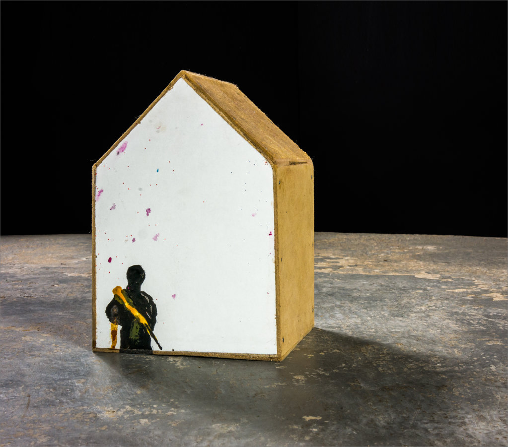 Untitled (Man/House) 2014