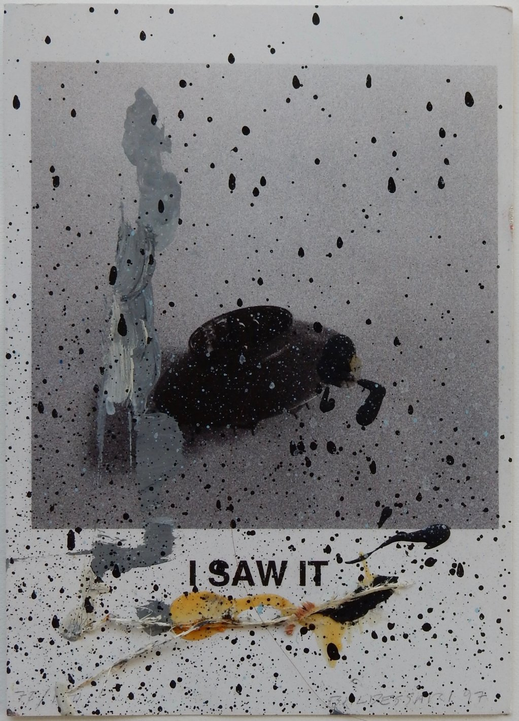 Untitled (John Baldessari, I Saw It 1996) 2017