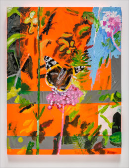 Untitled (Trump Leaving / Red Admiral) 2017