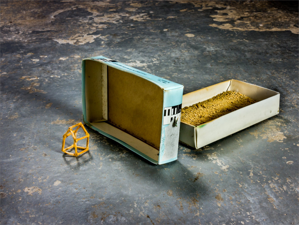 Untitled (House, Box and Sand) 2011