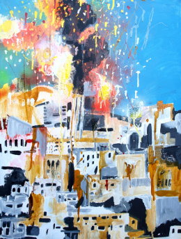 Burning City Gaza Phill Hopkins 2014
