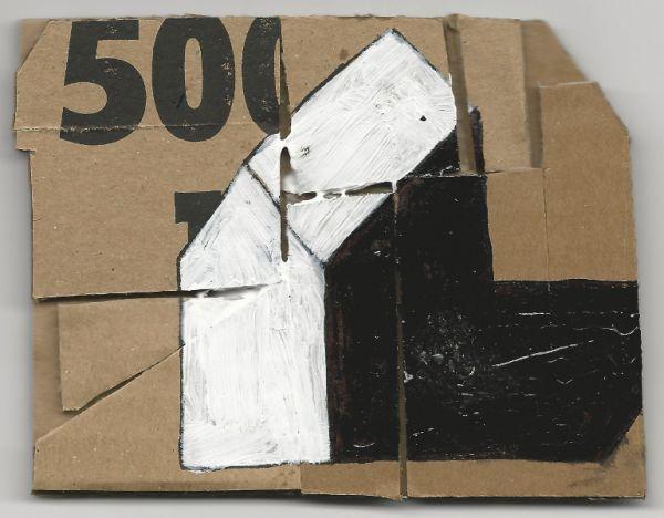 Untitled (Cardboards after RR) 2013
