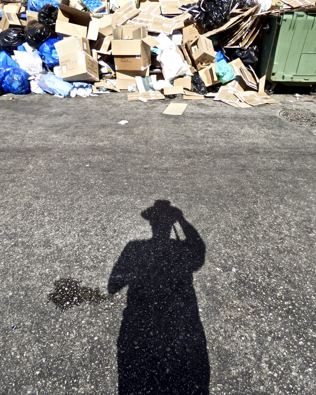 Self Portrait, Rubbish, Corfu Old Town 2018