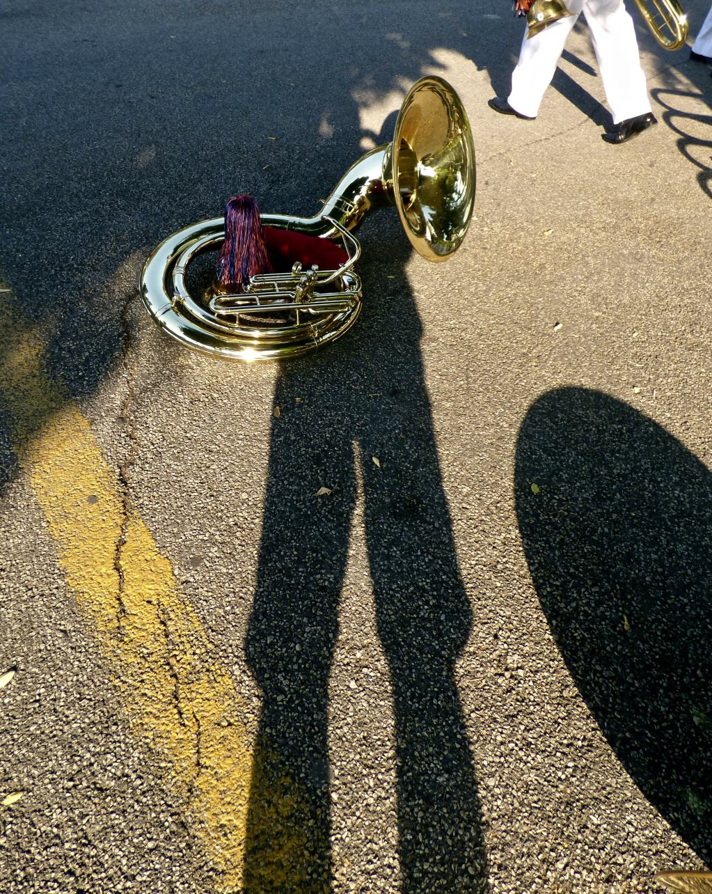 Self Portrait, with Sousaphone 2018