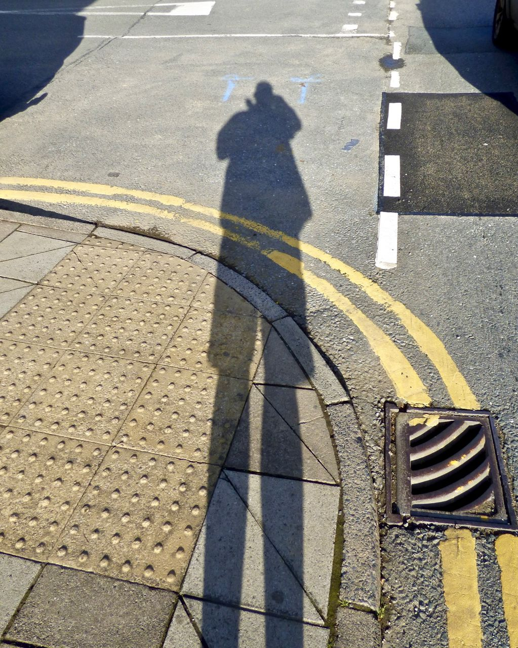 Self Portrait Following the Trend of Posting Photographs of Road Markings on Instagram 2018