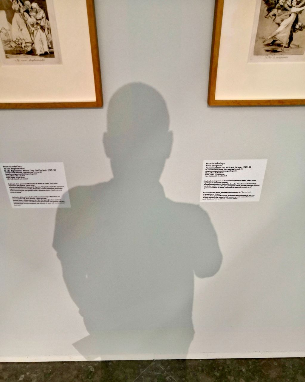 Self Portrait as if I'm Caught Between the Moon and Francisco de Goya (Cascais) 2019