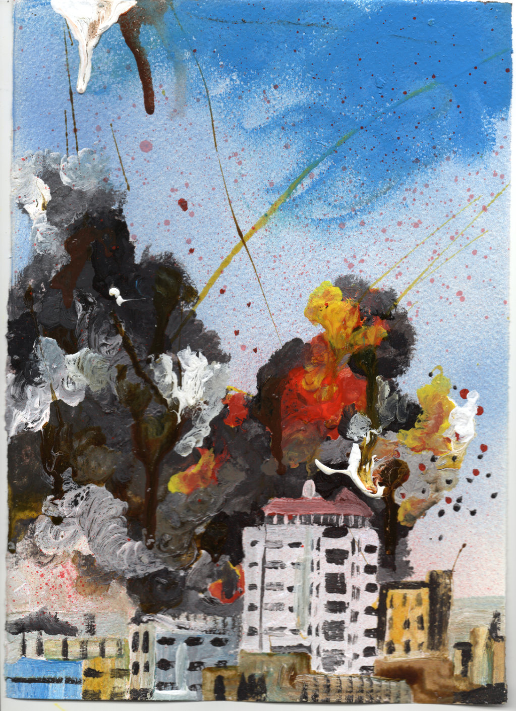 Explosion – White Tower Block (Syria) 2015