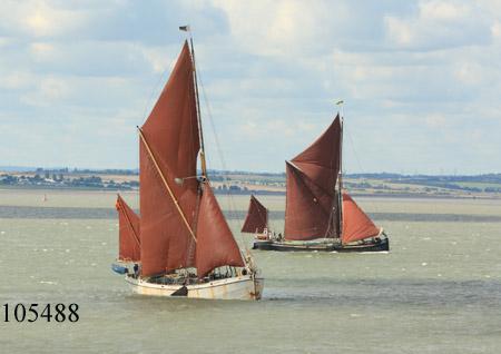 Thames sailing barges Reminder and Marjorie