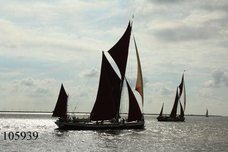 Thames sailing barges Decima and Repertor