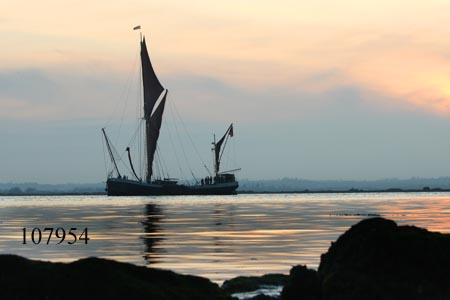Thames barge Thistle off Osea