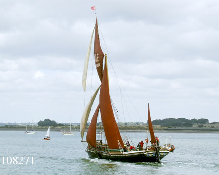 Thames sailing barge Edme in the Colne match.