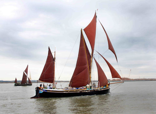 Thames sailing barge Thalatta in the Thames Barge match 2012