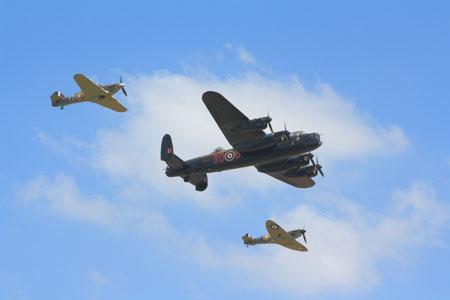 BBMF Spitfire, Hurricane and Lancaster