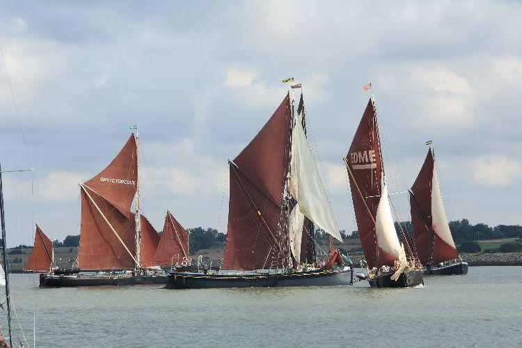 Thames sailing barge Match start.