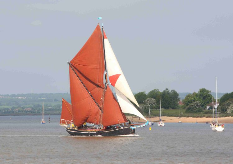 Thames sailing barge Adieu