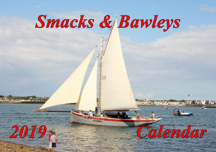 "Front cover 2019 calendar ""Fishing smacks and bawleys"""