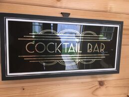 Gilded Cocktail Bar glass sign