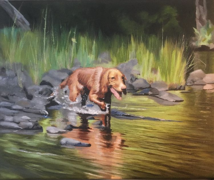 Goldie cooling off