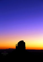 Sunset in Monument Valley USA