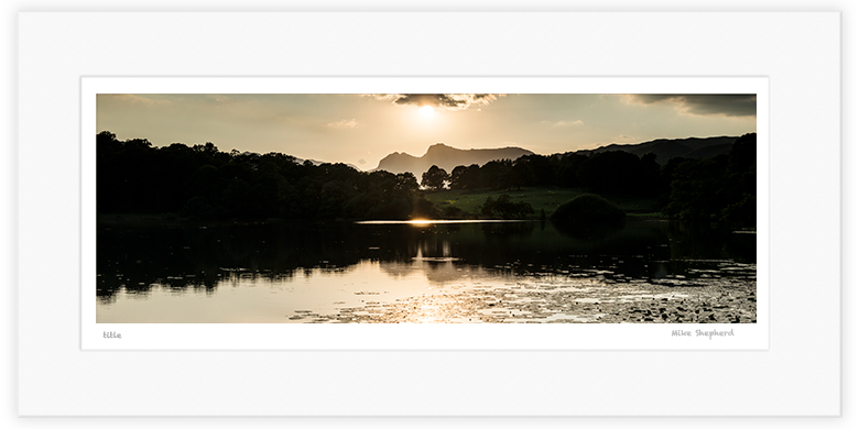 MPP1 - Sunset over Loughrigg Tarn