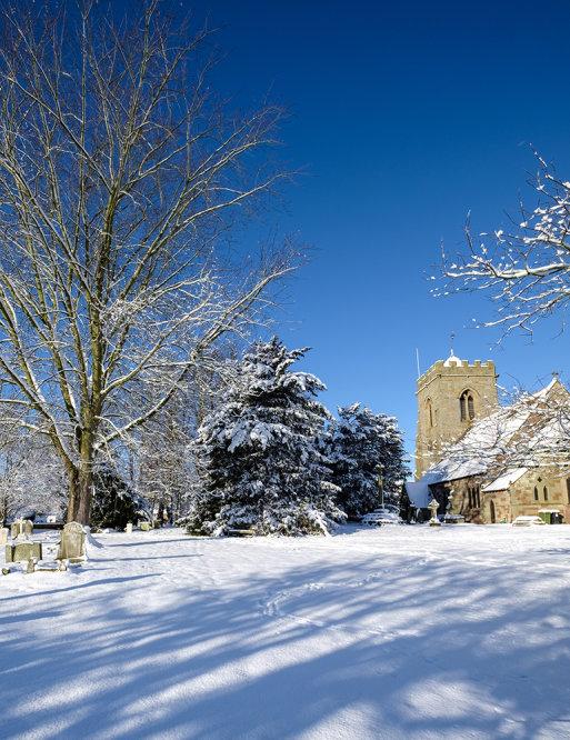 #1012 Winter Snow Scene