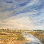 Norfolk Broads landscape with Sailing Craft