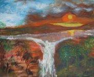 Sunset over Waterfall