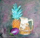 A Pineapple, Mango and Jug