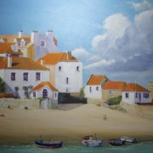 St Ives Beach and houses