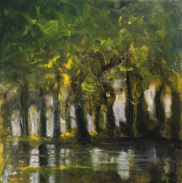 SUMMER LAKE TREES