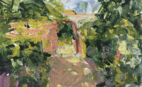 THROUGH THE ARCHWAY - SOLD