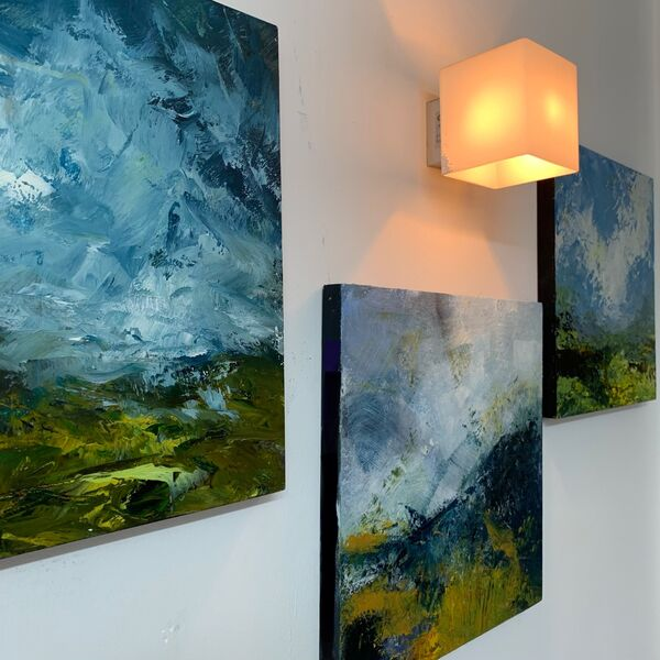 These 3 30x30 landscapes are part of my South Downs Series