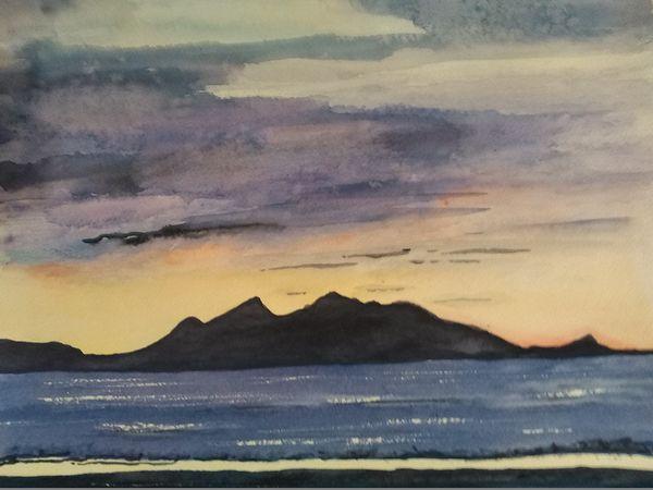 Isle  of  Arran  from  Ayr by Ann McGeachie